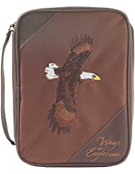 Brown Eagle 8.5 x 10.5 inch Reinforced Polyester Bible Cover Case with Handle