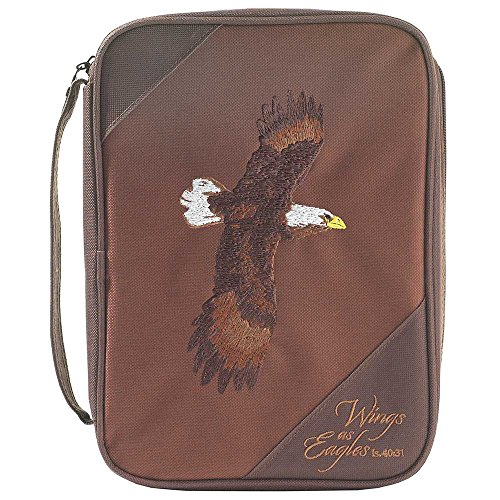 Brown Eagle Reinforced Polyester Bible Cover Case with Handle, -