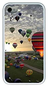 iPhone 4S Case, Ballons Design TPU Custom iPhone 4/4S Case Cover Whtie