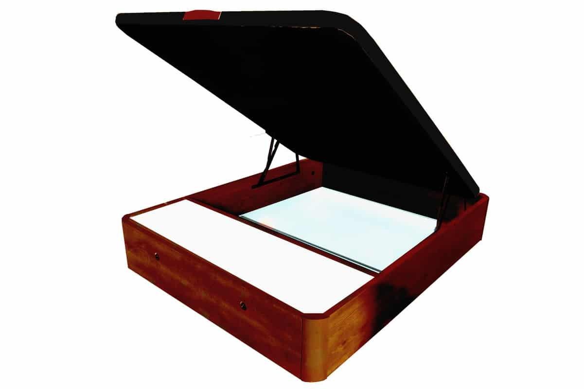 COTINO - Canapé abatible madera con cajones frontales (Dos cuerpos) 180/190 Cerezo tono nogal: Amazon.es: Hogar