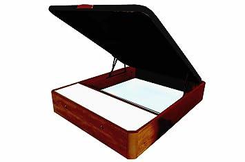 COTINO - Canapé abatible madera con cajones frontales 150/190 Cerezo tono nogal: Amazon.es: Hogar