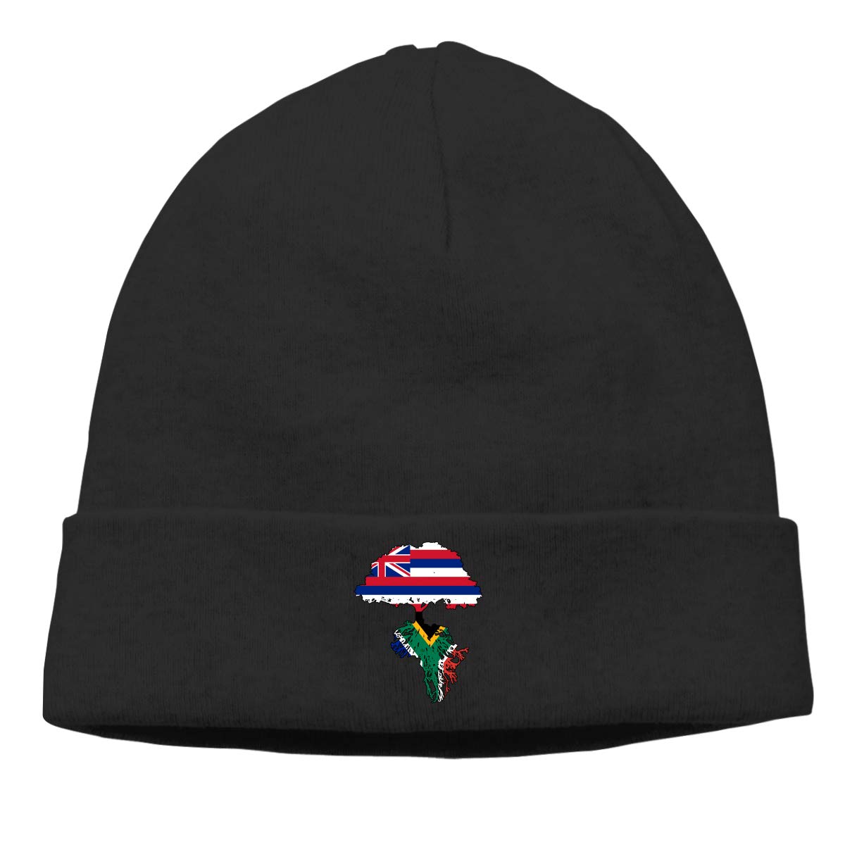 Hawaii State Flag South African Flag Men Womens Solid Color Beanie Hat Stretchy /& Soft Winter Cap Thin