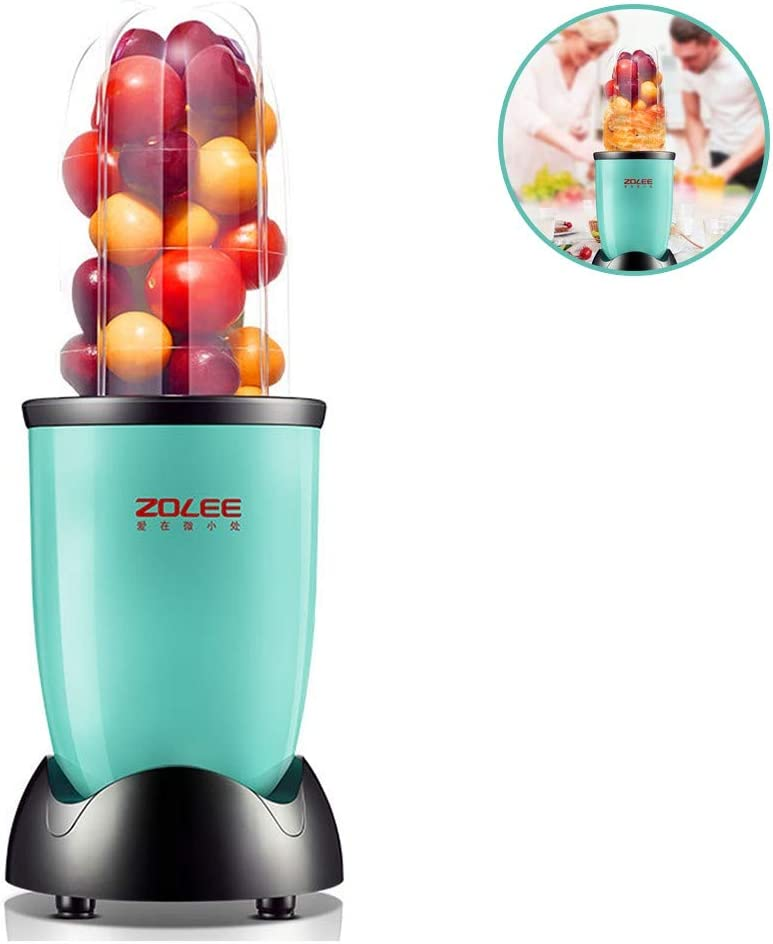 Ice-Beauty-ukzy Countertop Blender, Multifunctional Blender 245W Single Serve Blender for Shakes and Smoothies, BPA Free, Mixer with Cup for Home Kitchenblue