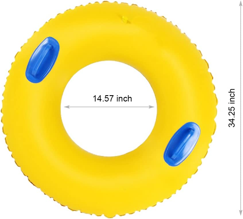PVC Thickened Floating Swimming Ring Inflatable Ring Swim Tube Summer Fun Swim Trainer for Kids /& Adults L Luckstar Swim Ring