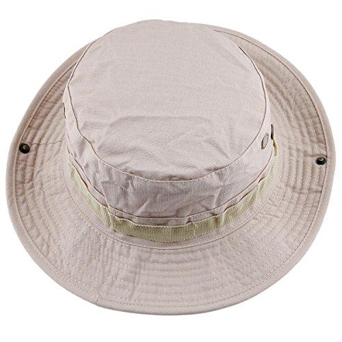 squaregarden Military Camo Adjustable Boonie Hat Hunting Bucket Hats   Khaki 257b8e7875b5