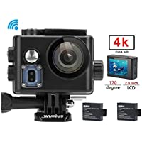 Action Camera 4K WiFi Camera 16MP WIMIUS Q6 Ultra HD Sports Waterproof Camera