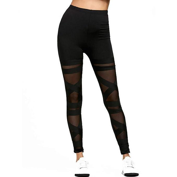 cinnamou Pantalon Yoga Mujer, Mujeres EláStico Cintura Gasa ...