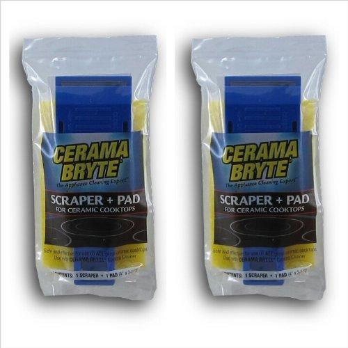Cerama Bryte Scraper & Pad Combo (2 PACK) (Ceramic Scraper Cooktop)