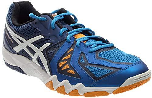 ASICS Men's Gel-Blade 5 Indoor Court Shoe, Electric Blue/White/Navy, 15 M US (Asics Mens Gel Resolution 4 Tennis Shoe)