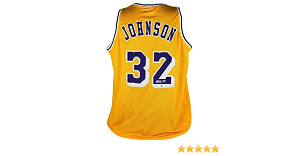 ccc8da93a248 Lakers Magic Johnson Authentic Signed Yellow Jersey Autographed BAS  Witnessed 1 at Amazon s Sports Collectibles Store