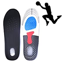 Unisex Orthotic Arch Support Sport Shoe Pad Gel Insoles Insert Cushion for Hiking,Running