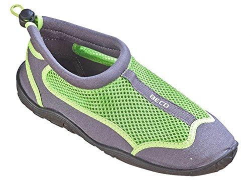 Beco–Escarpines para Surf, zapatillas de playa, para hombre y mujer (gris/verde, 39) Gris / Verde