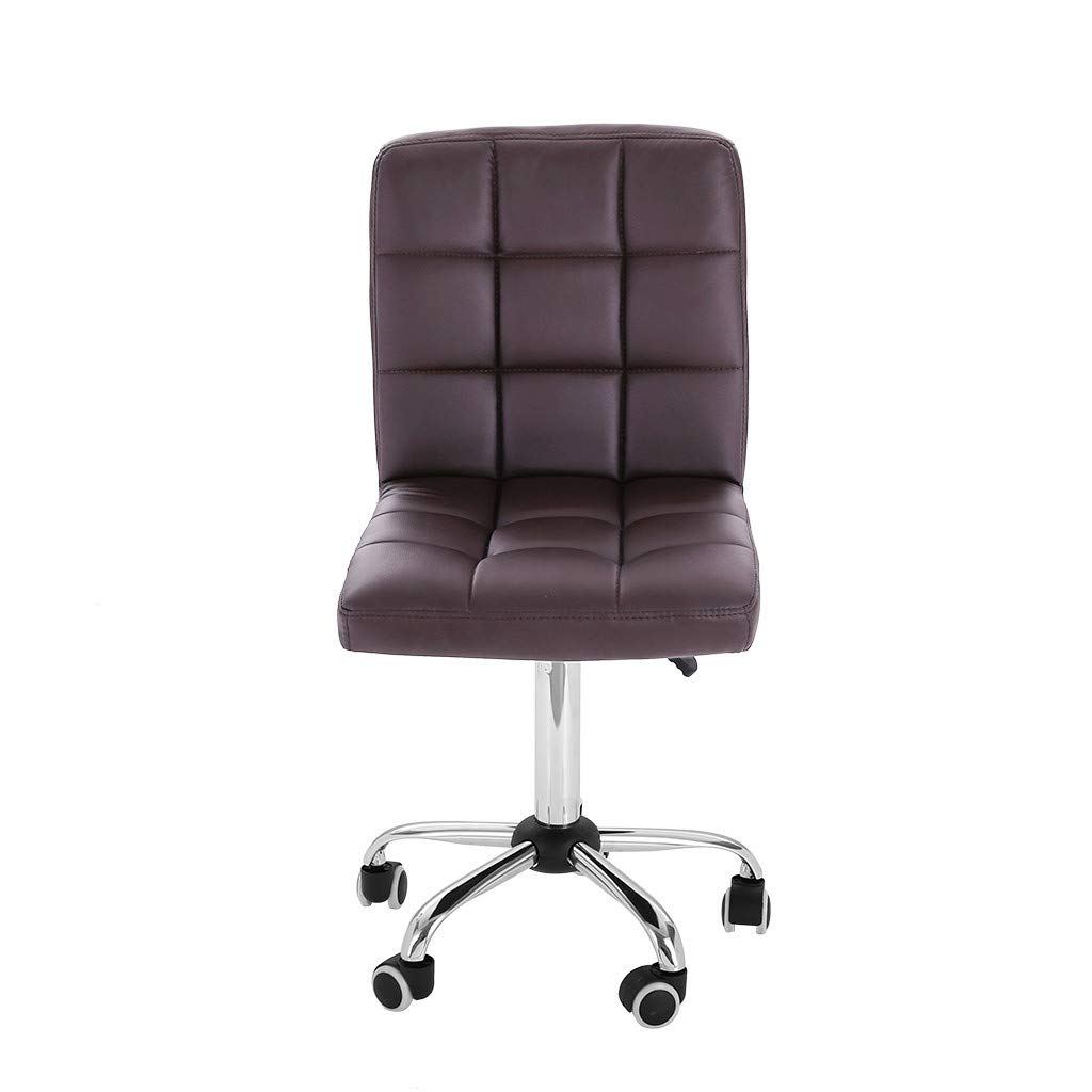 Rusilay Household Fashion Leisure Swivel Chair Office Office Chair Staff with Liftable Work Chair, Beauty Salon Chair (Brown)