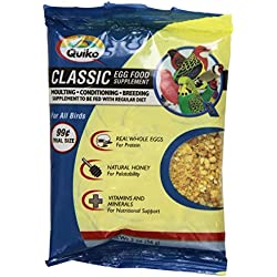 Quiko Classic Egg Food Daily Supplement - Peak Health Formula, Ideal for Canaries, Finches and All Other Pet Birds, 2 Ounce Pouch