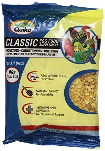 Quiko Classic Egg Food Daily Supplement - Peak Health Formula, Ideal For Canaries, Finches And All Other Pet Birds, 2 Ounce Pouch -