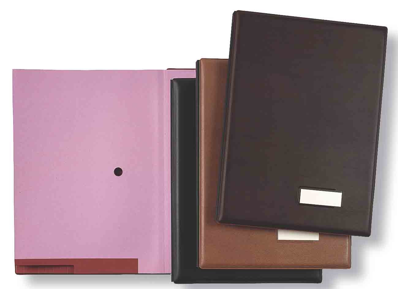 Pardo 87506–portafirmas with Cover Padded Leatherette, 18Compartments, Brown