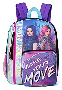 Disney Girls Descendants 3 Wickedly Fierce 16'' Backpack, Metallic/Purple (Purple) - K17TQDDSY00IR00