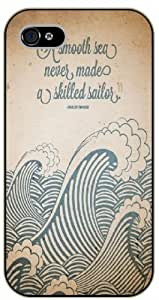 "iPhone 6 (4.7"") A smooth sea never made a skilled sailor - black plastic case / Life, dreamer's inspirational and motivational quotes"