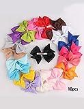 Goldenfox 10pcs Girls Ribbon Bow Hair Clip Kids Alligator Clips Party Hair Accessories