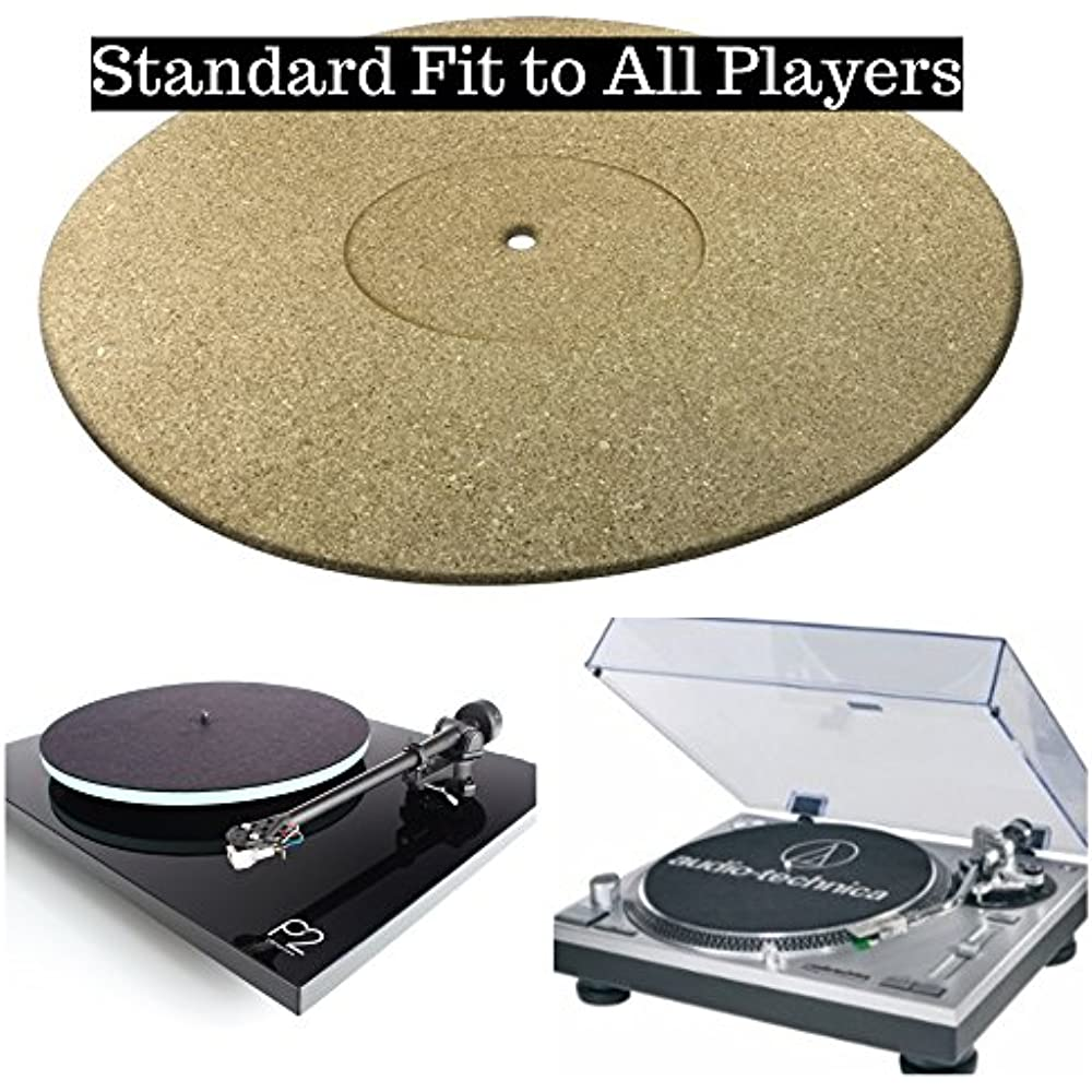 Pure Cork Audiophile Turntable Mat by Tuneful Cables for Vinyl Record LP/'s