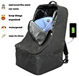 Foldable Padded Travel Car Seat Backpack Waterproof Travel Bag w Extra Shoulder Mesh Pockets