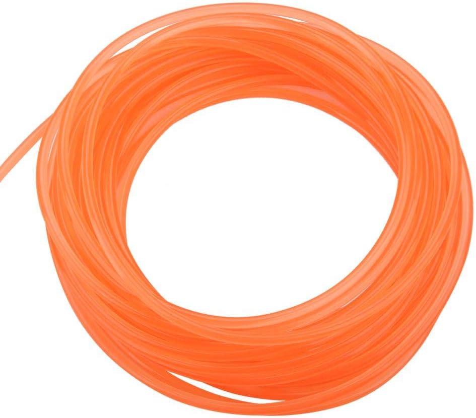 6mm10m Smooth Surface High-Performance PU Transmission Belt Urethane Round Belt for Drive Transmission Orange Wifehelper Polyurethane Round Belt