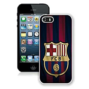 5 Phone case,FC Barcelona Logo White iPhone 5 cell phone case
