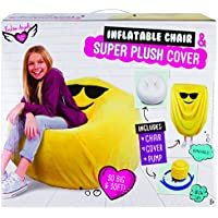 Fashion Angels Inflatable Chair and Super Plush Emoji Cover