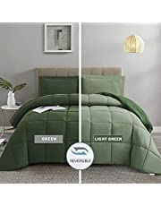 3pc Down Alternative Comforter Set - All Season Reversible Comforter with Two Shams - Quilted Duvet Insert with Corner Tabs -Box Stitched–Keeping Shape Well After wash –Hypoallergenic, Soft, Fluffy