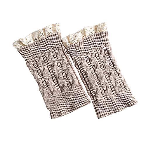 Women Girl Lace Crochet Knit Trim Boot Cuffs Toppers Leg Warmer Socks Leggings ()