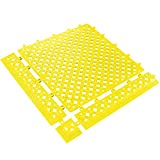 BOX USA BMAT320YW Lok-Tyle Drainage Mats, Tile, 12'' x 12'', Yellow