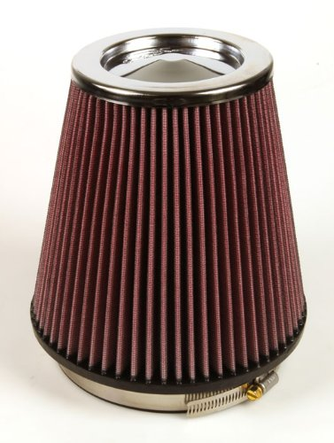 K&N RF-1041 Universal Clamp-On Air Filter: Round Tapered; 6 in (152 mm) Flange ID; 7.5 in (191 mm) Height; 7.5 in (191 mm) Base; 5 in (127 mm) Top