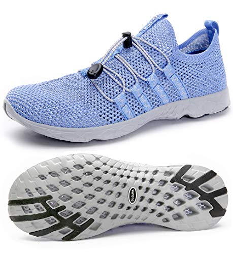 DLGJPA Men's Quick Drying Water Shoes for Beach or Water Sports Lightweight Slip On Walking Shoes -