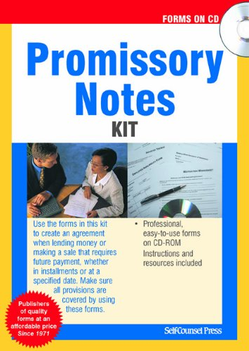 Promissory Notes Kit (Forms on CD) ()