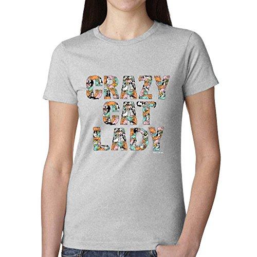 Crazy Cat Lady Amc Womens Short-sleeve Grey (Powerpuff Girls Sexy)