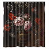 Monadicase Polyester Famous Classic Art Painting Flowers Blossoms Christmas Shower Curtains Width X Height / 66 X 72 Inches / W H 168 By 180 Cm Best Choice For Lover Father Couples Lover Husband.