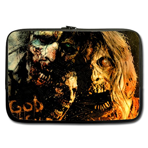 JIUDUIDODO Custom The Walking Dead Water Resistant Neoprene Computer Bag Sleeve for Laptop 15