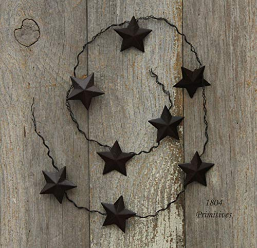 (Inspiration for A Project Ornament 33'' Barn Star Garland ~ Primtive Rusty Tin Look DIY Rustic Primitive Decor Ideas)