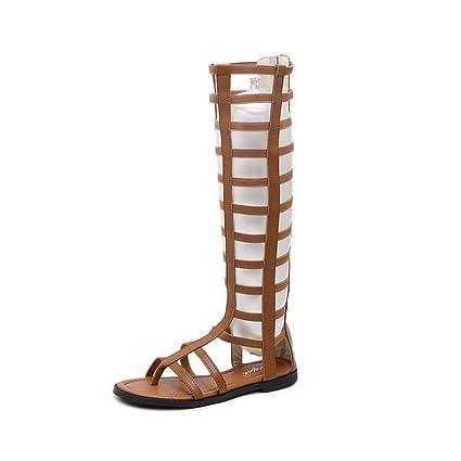 supshark -- rodilla mujer sandalias gladiador alto Lomon ...