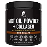 Cheap MCT Oil Powder + Collagen + Prebiotic Acacia Fiber – 100% Pure MCT's – Perfect for Keto – Energy Boost – Appetite Control – Healthy Gut Support – Chocolate