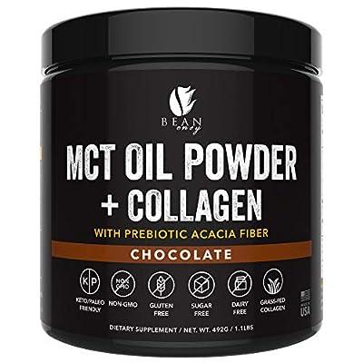 MCT Oil Powder + Collagen + Prebiotic Acacia Fiber - 100% Pure MCT