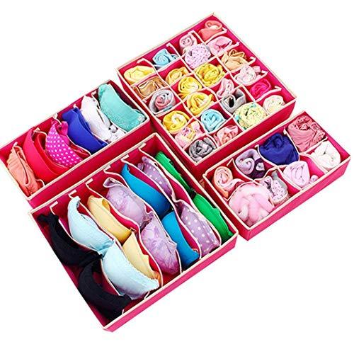 4 Piece Underwear Organizer Storage Box Set Only $12.99 - $4.25 Each