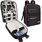 BUBM Game Bag Backpack, Travel Gear Carry Case for PS4 Pro Game Console and Accessories, Lightweight and High Capacity, Compatible with PS4, PS4 Slim, PS4 Pro, Xbox, Xbox One S