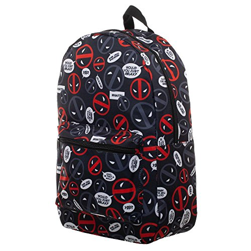 Marvel Deadpool Bag Sublimated Backpack - Deadpool Backpack Great Deadpool Gift -