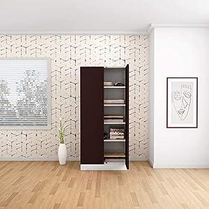 GODREJ INTERIO Slimline 2 Door Steel Almirah with 4 Shelves (Russet)