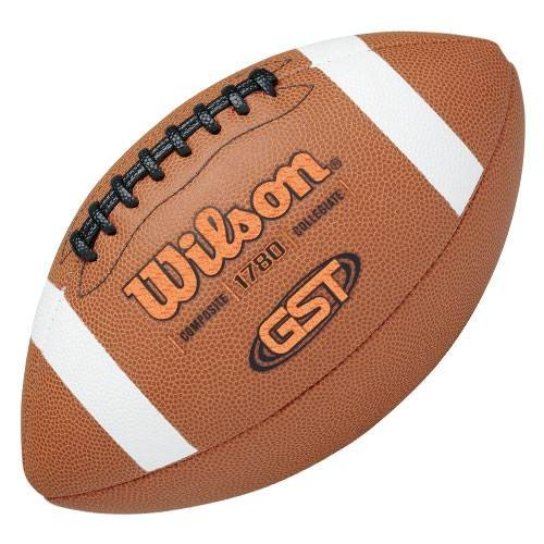 Wilson GST Composite Game Football (Official Size) (Football Leather Wilson)