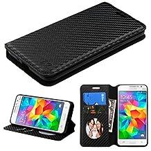 MyBat Wallet Case for Samsung G530 (Galaxy Grand Prime) - Retail Packaging - Black