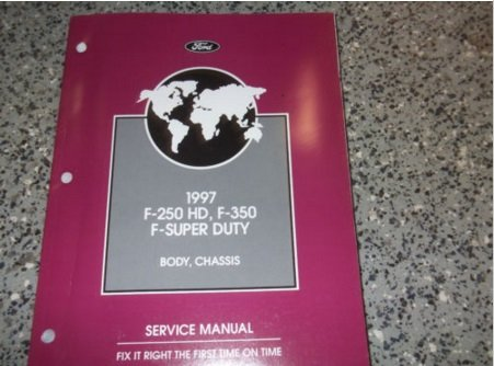 1997 Ford F-250 350 F SUPER DUTY Truck Service Shop Manual BODY CHASSIS OEM 97
