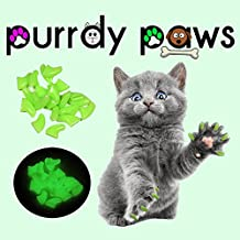 40-Pack ULTRA GLOW Soft Nail Caps For Cat Claws * Purrdy Paws Brand (Medium)