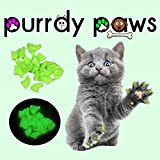 40-Pack Soft Nail Caps For Cat Claws ULTRA GLOW LARGE Purrdy Paws
